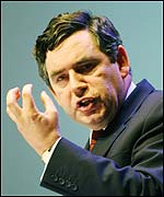 Gordon Brown paid tribute to Tony Blair