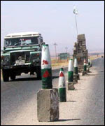 Checkpoint near Halabjah