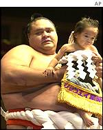 Akebono and his son