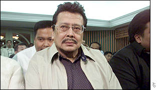 Joseph Estrada in court in October