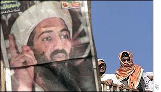 Osama Bin Laden supporters in Pakistan