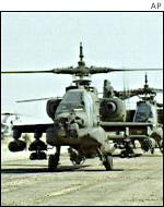 US apache helicopters in Saudi Arabia