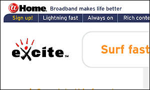 Excite@Home home page