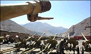 Northern Alliance artillery in Afghanistan