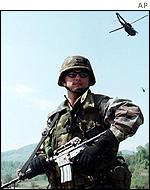 Nato peacekeeper in Bosnia