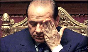 Berlusconi at Senate on day of apology