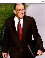 Federal Reserve Chairman Alan Greenspan in Washington, DC