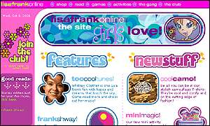 The Lisa Frank website