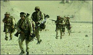 The Gulf War took place between 1990 and 1991