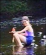 Josie Russell at a river