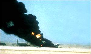 Palestinian militants blow up hijacked airliners in Jordanian desert, 1970