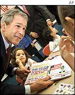 Bush at NY school