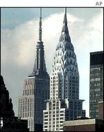 Empire State and Chrysler buildings