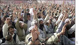 Bin Laden supporters in Pakistan