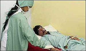 A patient suffering from Congo Virus in hospital in Quetta
