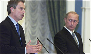Tony Blair and Vladimir Putin