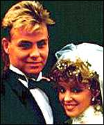 Kylie with Jason Donovan in Neighbours