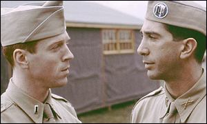 Lewis and Schwimmer in Band Of Brothers