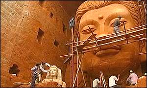 Work underway on the statue