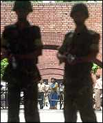 Troops guarding the Election Commission
