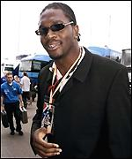 Audley Harrison at the races