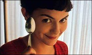Amelie is played by Audrey Tautou