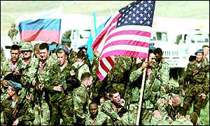 File photograph of the US Army's 10th Mountain Division in 1998