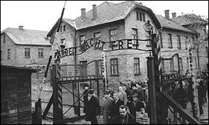 Entrance to Auschwitz, taken in 1964