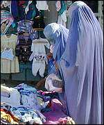 Women at market in Kabul