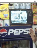 TV in Pakistani shop