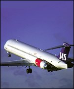 MD80-type plane, SAS