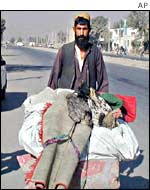 Kabul resident leaving the city