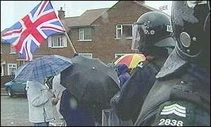 Loyalist protesters