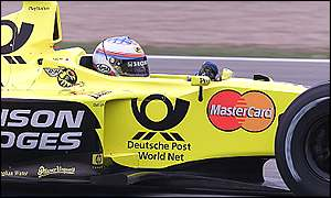 Takuma Sato in a Jordan-Honda in 2000, copyright LAT Photographic