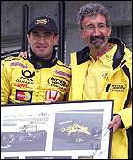 Jean Alesi (left) and Eddie Jordan