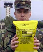 A humanitarian daily ration pack