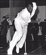Former West Indies fast bowler WesHall