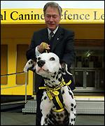 NCDL dog and MP Tony Banks