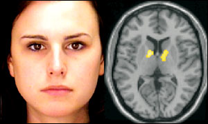 Face (left) and brain scan (Nature)