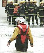 Rescuers in Uckfield, East Sussex
