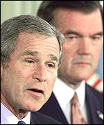 George Bush and Tom Ridge