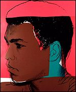 1970s portrait of Ali by Andy Warhol