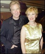 Rickman and Duncan arriving at the British Independent Film Awards in 1999