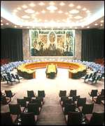 The UN Security Council chamber