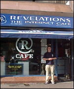 Revelations internet cafe in Belfast