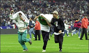 A pitch invasion ruined Algeria's historic game with France last weekend