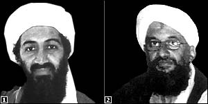 Osama Bin Laden (l) and Ayman al-Zawahiri