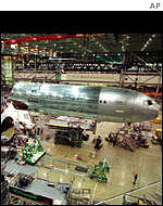 Boeing manufacturing facility in Everett, Washington