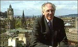 Donald Dewar in Edinburgh