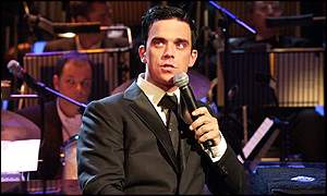 Robbie Williams was joined by a 58-piece band